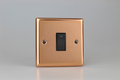 Varilight Polished Copper 1-Gang 20A Double Pole Rocker Switch + Neon Indicator Light - XY20NB.CU